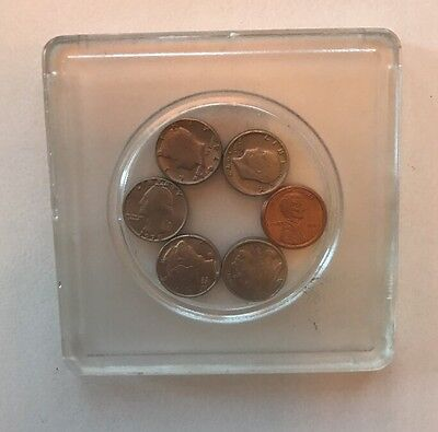 Miniature U.S. Coins, Set of Six, In Protective Case:   COOL!