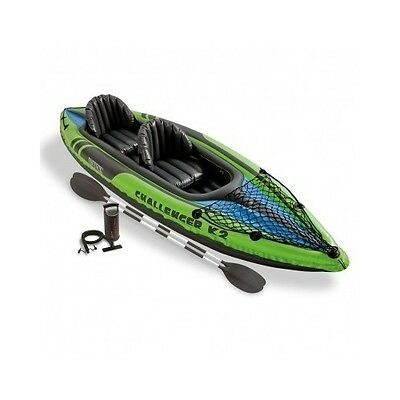 Kayak Two Person Inflatable Set with Aluminum Oars High Output Air Pump