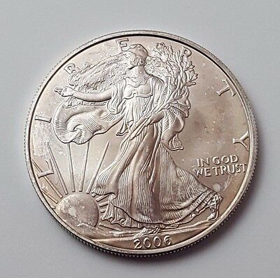 U.s.a - Dated 2006 - Silver - Eagle - $1 One Dollar Coin - American Silver Coin