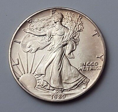 U.s.a - Dated 1989 - Silver - Eagle - $1 One Dollar Coin - American Silver Coin