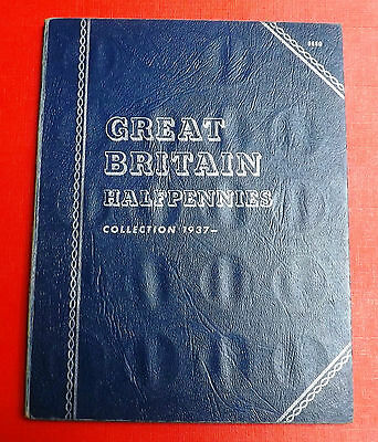 British  Whitman Folder With Complete Set Of Halfpennies 1937 To Date