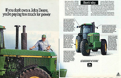 1991 John Deere 4455 & 4955 Farm Tractor 2 Page Print Ad