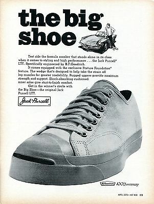 1970 Jack Purcell LTT The Big Shoe Engineered By B. F. Goodrich Print Ad