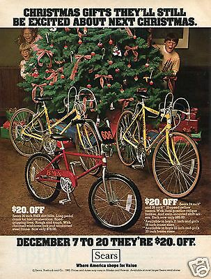 1980 Sears Roebuck 10 Speed & BMX Bicycle Christmas Print Ad