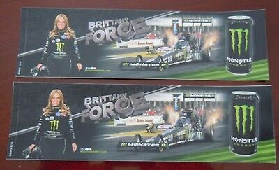 Monster Energy Drink Decals Bumper Stickers Brittany Force Lot of 2