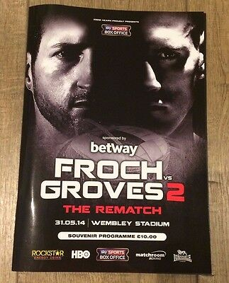 Froch V Groves 2 - The Rematch - Official Programme  -Wembley - 31 May 2014