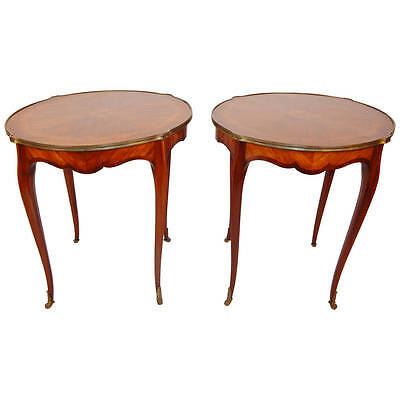 Beautiful Pair of Antique Louis XV Style Side Tables Ca. 1900
