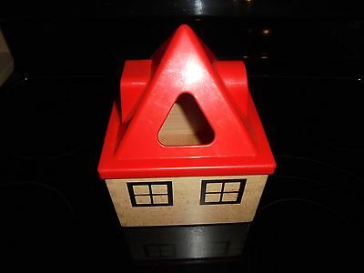 Ikea Wooden House Block Sorter Colors,shapes Learning Toy