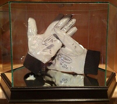 Donald Driver Game Worn Used Signed Packers NFL Football Gloves 1st 2TD Game PSA