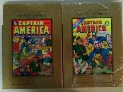 Marvel Masterworks Golden Age Captain America Volume 3 and 4!  First Prints!
