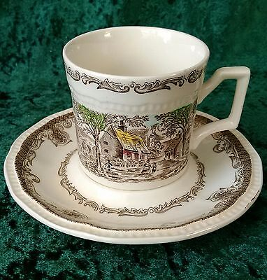 Vintage Kensington Ironstone Shakespeare's Sonnets Cup & Saucer Hand Paint R2815