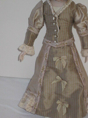 "Antique Reproduction Fashion Doll Dress, for 12"" doll"