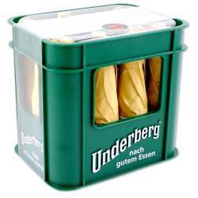 Underberg Bitters 12 pack with Refillable Plastic Display Case