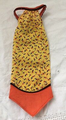 Vintage 2218 Barbie Best Buy Doll Outfit YELLOW Orange Calico Handkerchief DRESS