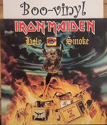 "Iron Maiden - Holy Smoke 12"" Vinyl (1990)  EX+ Con"