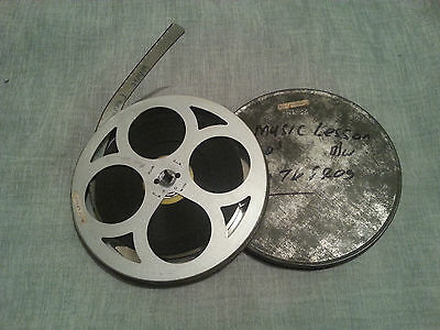 Flip the Frog in Music Lesson 16mm Cine Film Black and White with Sound