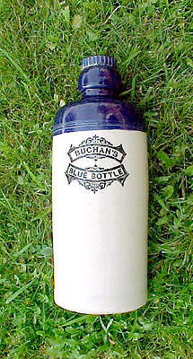 Rare Stoneware Buchan's Blue Top Hot Water Bottle