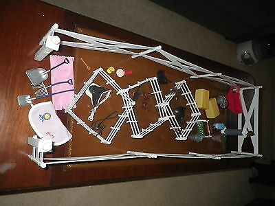 Vintage Kid Kore Stables Champion Toy Horse Accessorie lot