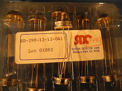 (1) SD-290-12-12-041 SILICON DECTOR CORP ENHANCED PIN PHOTODIODE Gold Plated