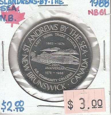 St. Andrews by the Sea New Brunswick Canada - Trade Dollar - 1988