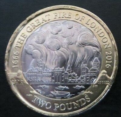 Rare Great Fire Of London £2 Coin 2016