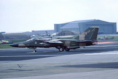 USAF F-111 Aardvark 70-2396 yr 1990 E4462 35mm Aircraft Slide