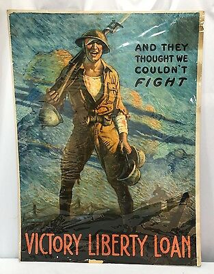 Original WWI Victory Liberty Loan Large Poster