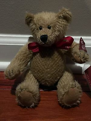 Crabtree & Evelyn 100% Mohair CYRUS Russ Jointed Teddy Bear Limited Edition New