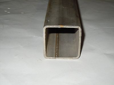 """Stainless Steel Square Pipe/ Tubing 2""""x 2"""" x.120 x 12"""" Gr 316 Sold by the foot"""