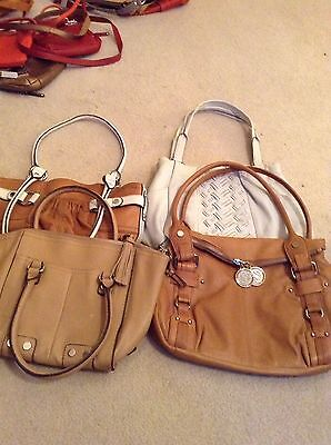 Tignanello Lot Of 4 Shoulder Bags Tans And White Nice
