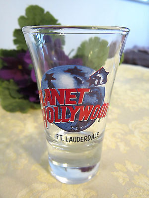 """Planet Hollywood--""""ft. Lauderdale"""" Shot Glass"""