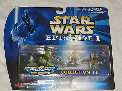NEW STAR WARS I E1 EPISODE MICRO MACHINES MOC  VEHICLE SHIPS Playset 3 III