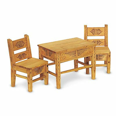 "NEW American Girl JOSEFINA TABLE & CHAIRS 18"" Dolls Wood Dinner Furniture"