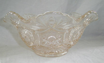 Imperial Glass Pink Crab Claw Pattern Bowl Circa 1981 Arthur Lorch Period