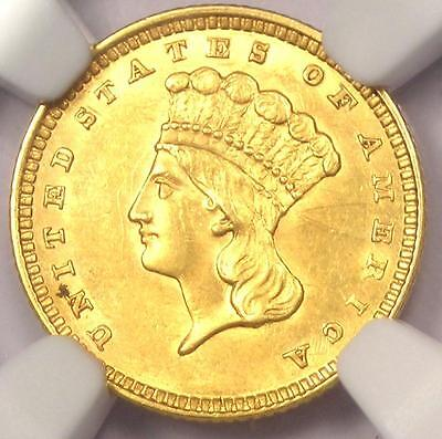 1857 Indian Gold Dollar Coin G$1 - Certified NGC Uncirculated Details (UNC MS)!