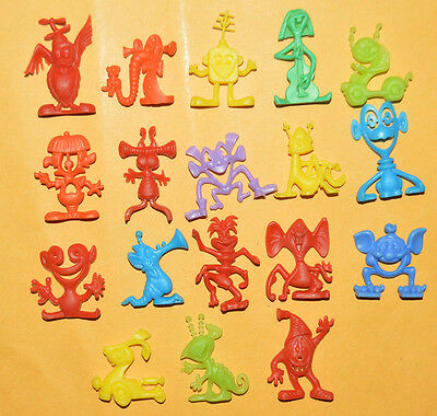 Vintage Cereal Premium Mexican Figures R&l Astronits 70's Tinykins