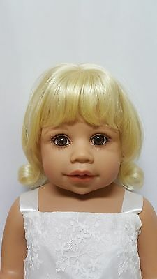 """NWT Monique Libby Pale Blonde Doll Wig 16-17"""" fits Masterpiece Doll(WIG ONLY)"""