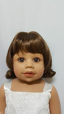 """NWT Monique Libby Brown Doll Wig 16-17"""" fits Masterpiece Doll(WIG ONLY)"""