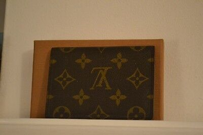 GOOD LOUIS VUITTON  ID Card Pass Case Holder Monogram CANADA
