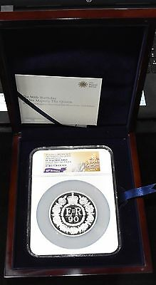 2016 GBritain Silver 5 oz  £10 Her Majesty The Queen 90th Birthday NGC PF70 ER