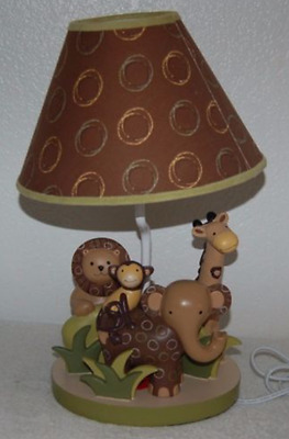 Lambs & Ivy  Baby Cocoa Nursery Lamp Great Condition