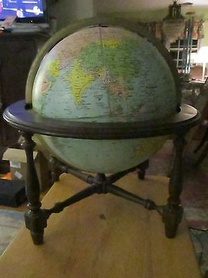 Awesome Vintage Replogle World Vision World  Globe 12 Inch Lighted 1940's