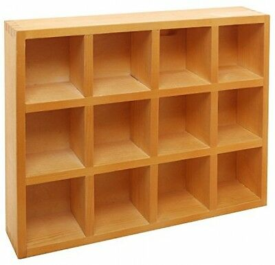?Wooden Freestanding / Wall Mounted 12 Compartment Shadow Box / Display Shelf