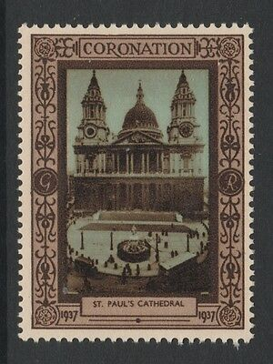 1937 Uk King George Vi Coronation Stamp – St. Paul'S Cathedral - Mnh