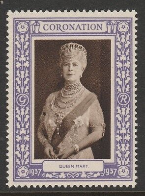 1937 Uk King George Vi Coronation Stamp – Queen Mary - Mint