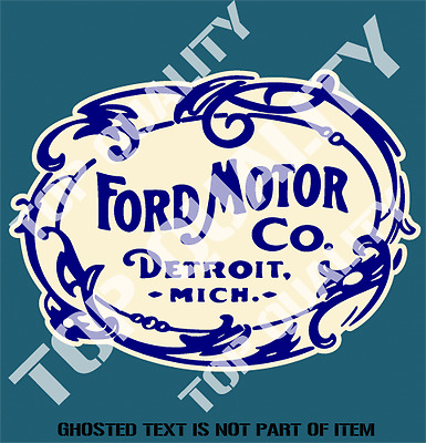 VINTAGE FORD MOTOR Decal Sticker Retro Ford Americana Hot Rod Rat Rod  Stickers