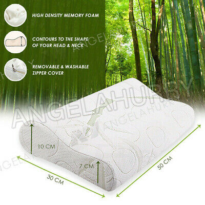Bamboo Pillow Memory Foam Fabric Fibre Care Contour 70 x 40cm Family Pack