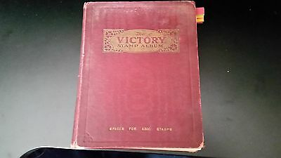 The Victory Stamp Album : British Colonies & World -1400 Used Stamps.