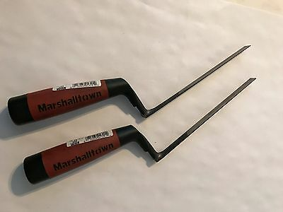 LOT 2 MARSHALLTOWN 505D CONCRETE TOOLS TUCK POINTER 6 3/4'' 3/8'' Durasoft Handl