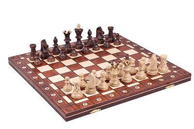 Ambassador-Handmade-Wooden-Chess-Set-w-21-Inch-Board-and-Detailed-Chessmen